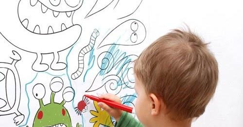 Decoraci n f cil papel pintado infantil para colorear for Papel pintado grueso