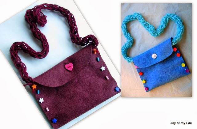 hand-made wool felt purse