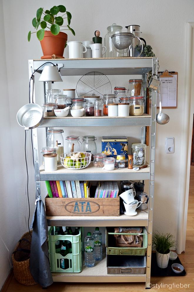 Küche Kisten Regal
