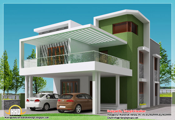 Beautiful 4 BHK contemporary modern simple Indian house design