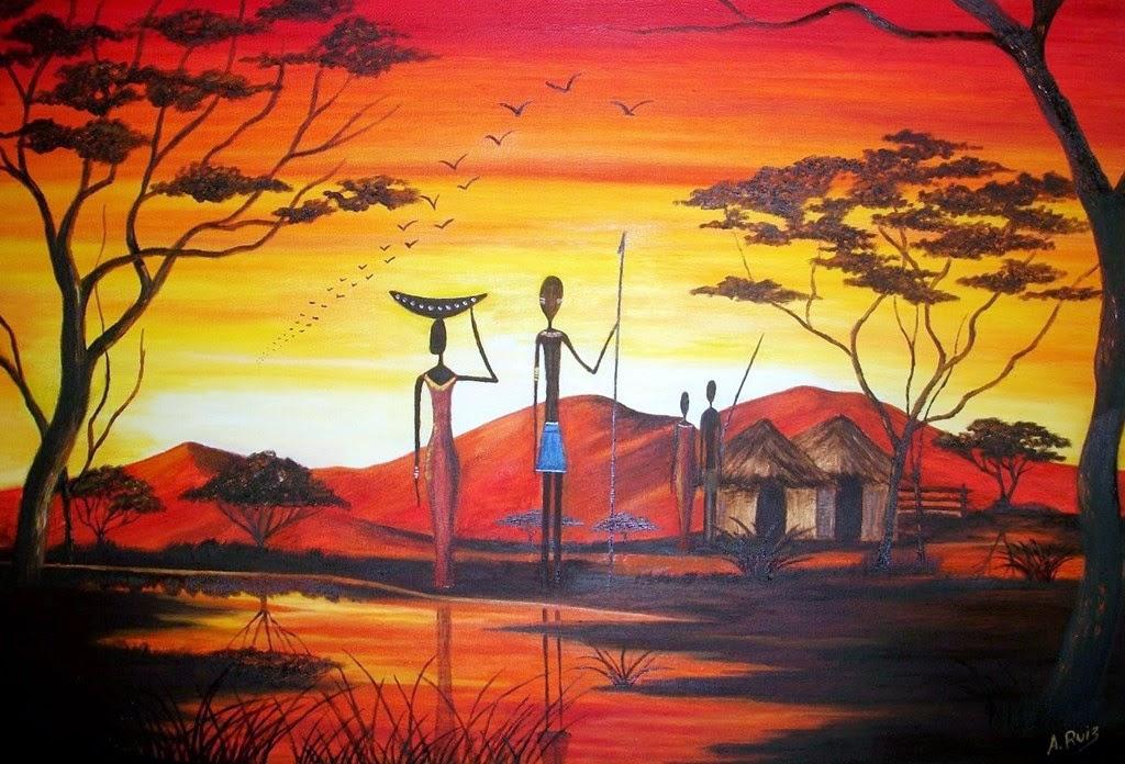 cuadros-sencillos-de-africanas