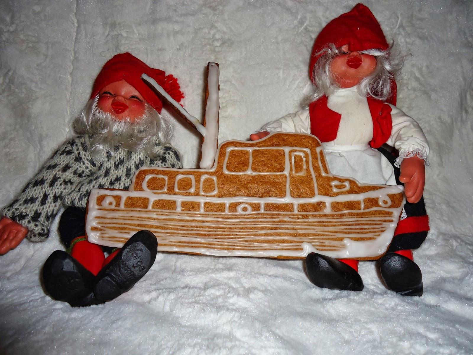 Trawler, pepperkake båt, trawler gingerbread