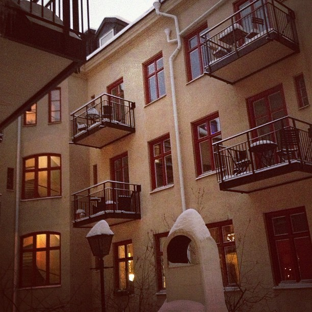 courtyard of stockholm block