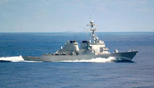 Kapal perang AS, USS Mahan, merapat ke Suriah