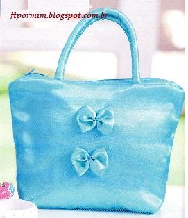 bolsa feita de cetim