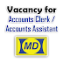 Vacancy for Accounts Clerk / Accounts Assistant at Muhibbah Dua (M) Sdn Bhd - September 2015