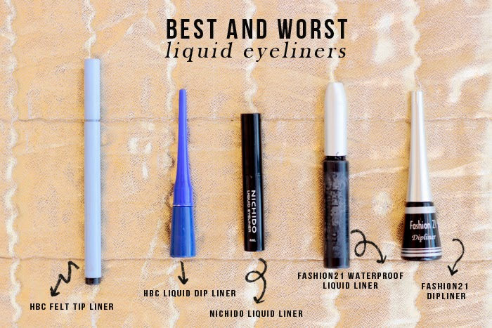 Best and Worst Liquid Eyeliners review