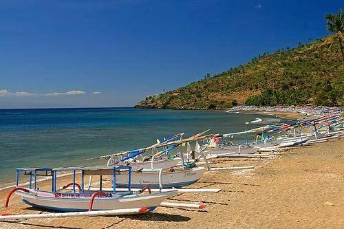 Amed beach and sea in Abang, Karangasem