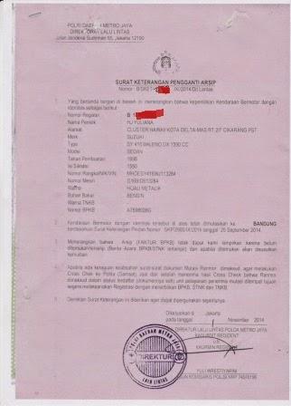 Surat Keterangan Pengganti Arsip BPKB-mega-birojasa-bandung