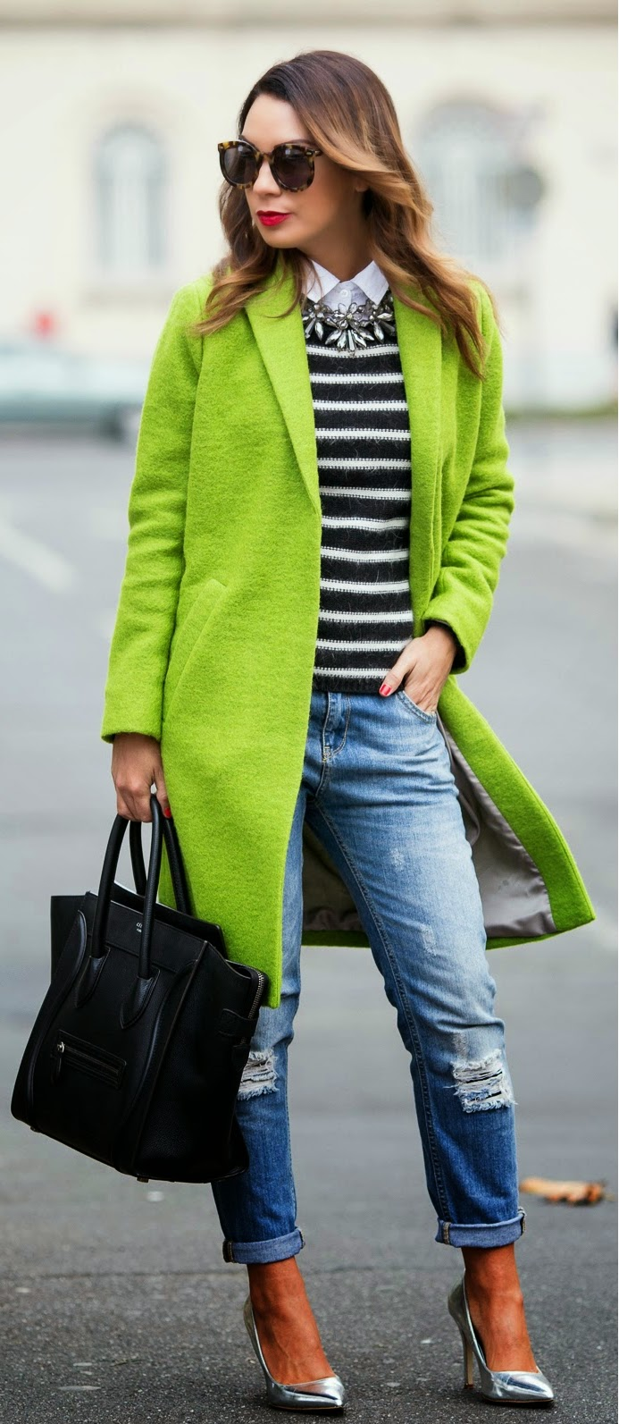 Lime Green and Stripes