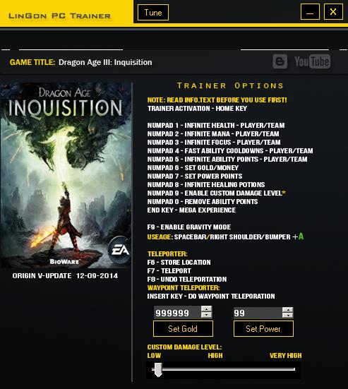 Dragon Age Inquisition trainergames