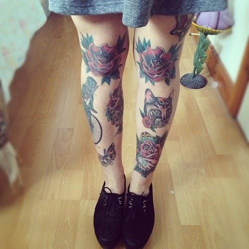 20 Most Beautiful leg Cat Tattoos Design & Ideas