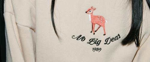 Hide and Seek Embroidered Deer Detail Sweatshirt