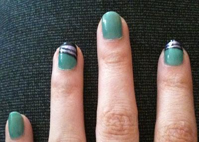 nail art, stripe
