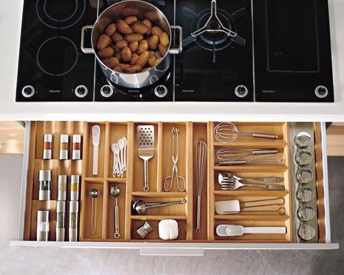 Design l e c rangement dans la cuisine les tiroirs for Rangement interieur tiroir cuisine