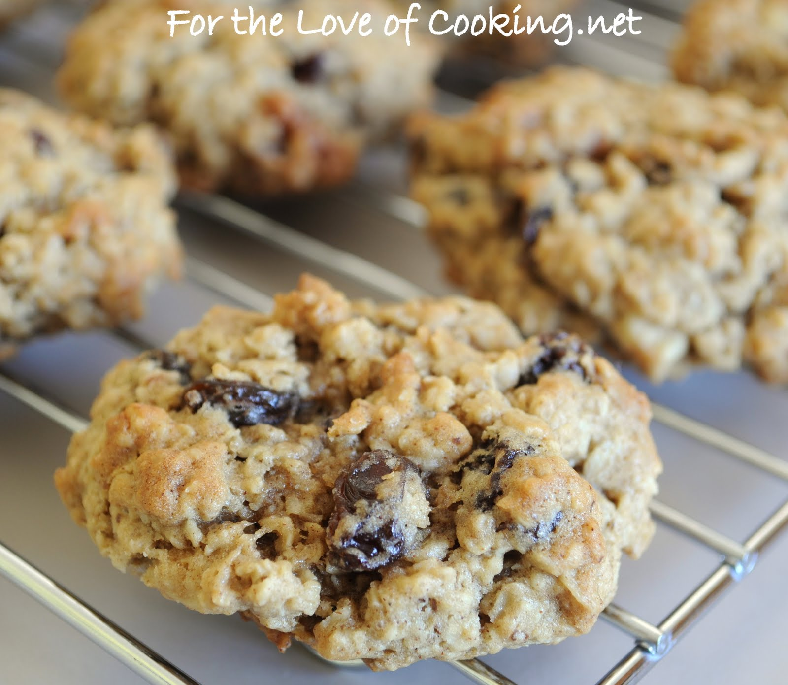 Cinnamon, Oatmeal, Raisin, and Walnut Cookies | For the Love of ...