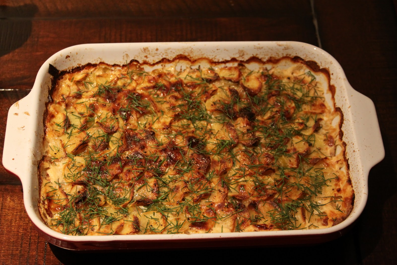 Fennel gratin with leek and potato :: Plate and Pour