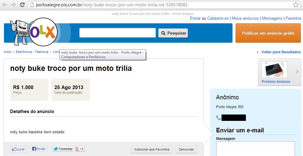 anuncio notebook erro portugues