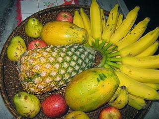 Tabla de calorías-frutas