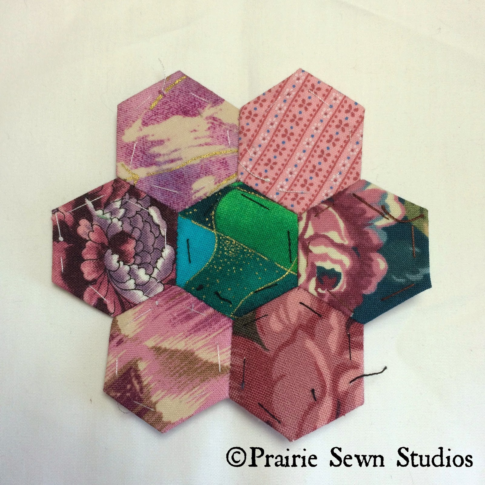 Prairie Sewn Studios Grandmother's Flower Garden Hexagon