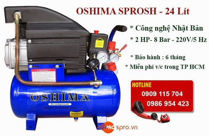 Máy nén khí Mini 2HP OSHIMA SPROSH Dung tích 24L