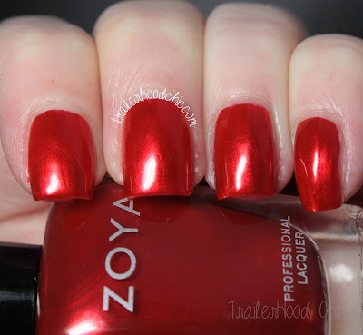 zoya flair review swatch ember