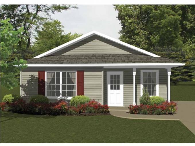 Plano de casa de 2 dormitorios y 68 metros cuadrados for Planos de casas de 2 habitaciones