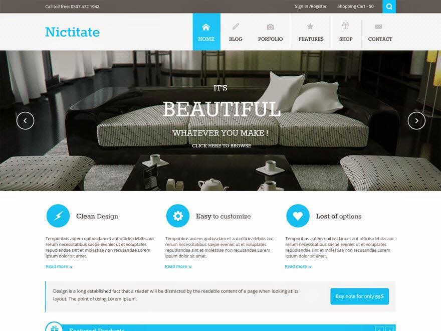 Nicititate Free Portfolio WordPress theme