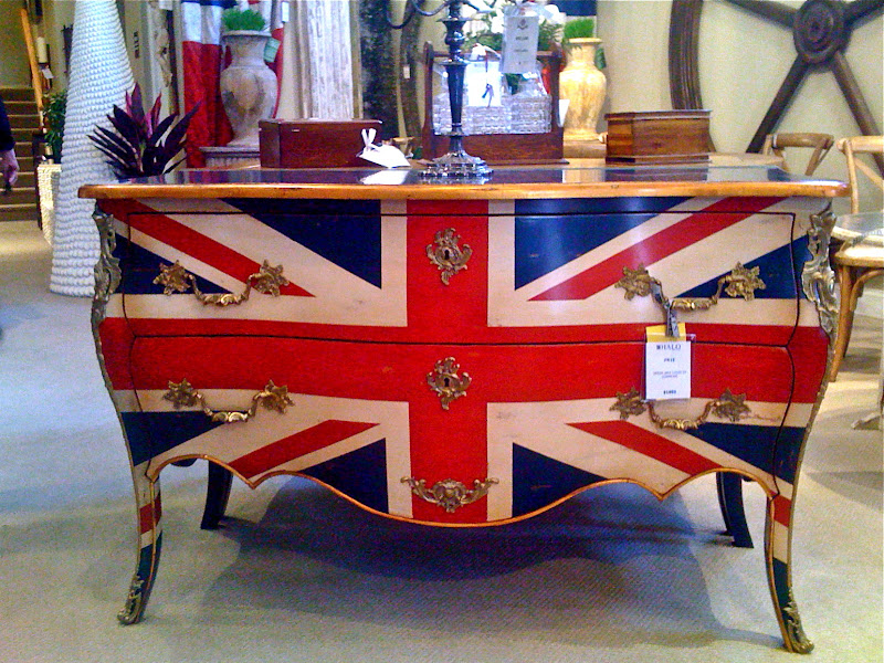 Bristish painted bedroom dresser, Union Jack