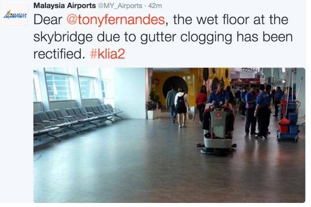 Bos AirAsia Tweet Gambar 'Banjir' Dalam KLIA 2, MAHB Jawab Balik