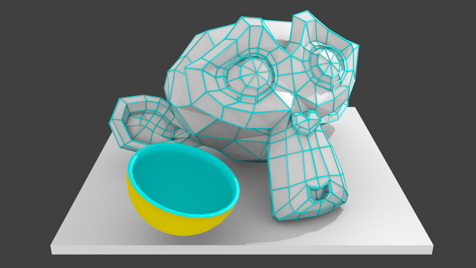 Blender sushi render wired double sided useful for Waste things useful material