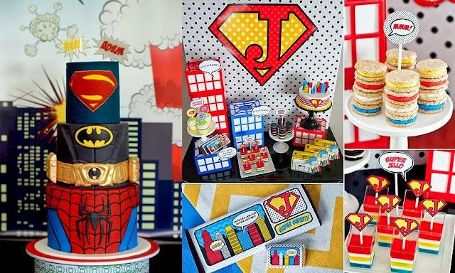 tema festa menino infantil aniversário super heróis