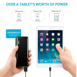 Anker 2nd Gen Astro E5 16000mAh Portable Charger External Battery Power Bank with PowerIQ Technology 2-Port 3A for iPhone 6 Plus 5S 5C 5 4S, iPad Air, mini, Galaxy S6 S5 S4 S3, Note 4 3 2, Tab 4 3 2 Pro, Nexus 4 5 7 10, HTC One, One 2 (M8), LG G3, MOTO X G, most other Phones and Tablets