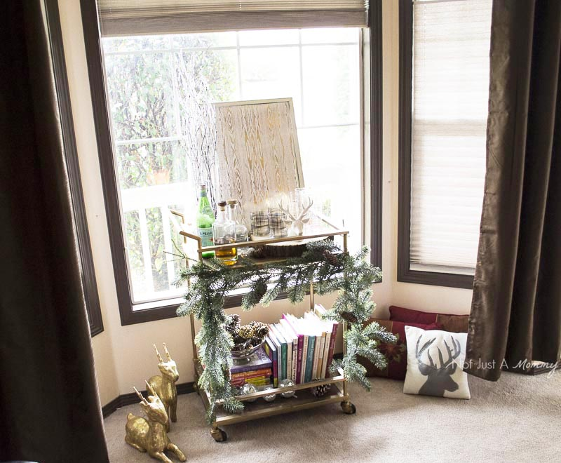How To Decorate Your Home For The Holidays With Big Lots; everyone needs a bar cart for home decor