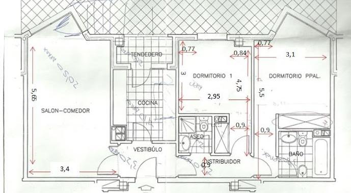 Planos low cost de dos dormitorios a tres for Hacer planos de habitaciones