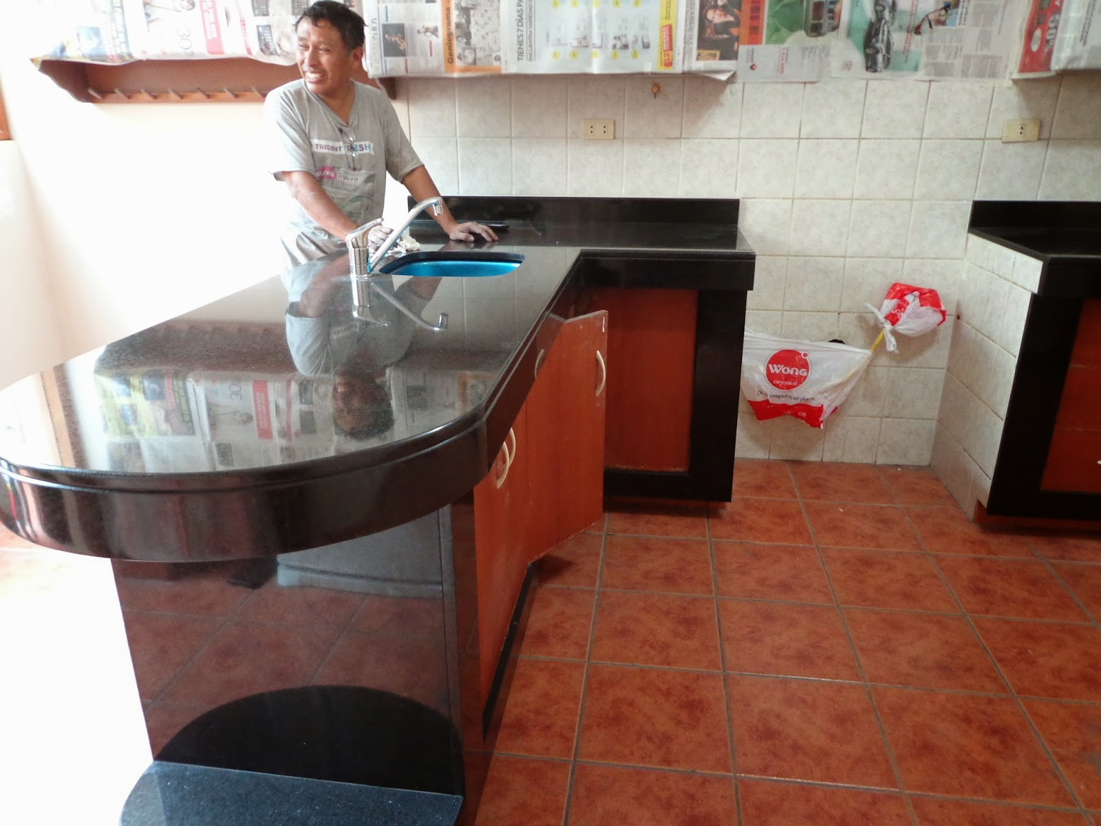 Topes encimeras islas mesas cocina granito marmol lima - Como cortar marmol encimera ...