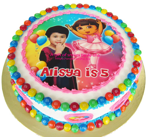 Cake Edible Image Dora The Explorer Aisha Puchong Jaya