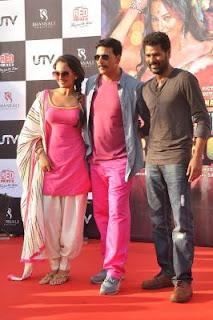 Rowdy Rathore star cast - Prabhu Deva, Sonakshi Sinha and Akshay Kumar