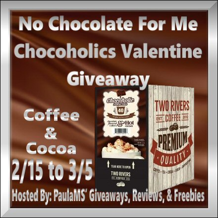 No Chocolate For Me Chocoholics Giveaway