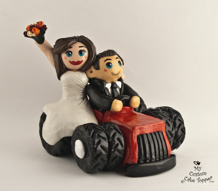 MY CUSTOM CAKE TOPPER Going For A Tractor Ride