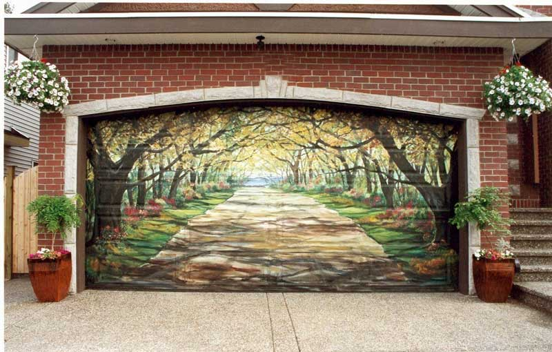 Custom Painted Garage Doors