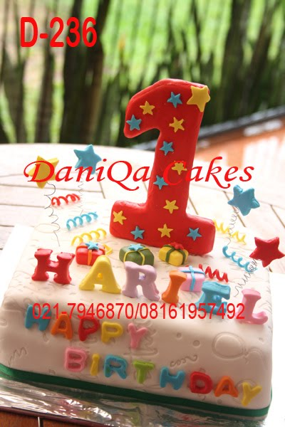 DaniQa Cake and Snack: First Birthday Cake For Hariel