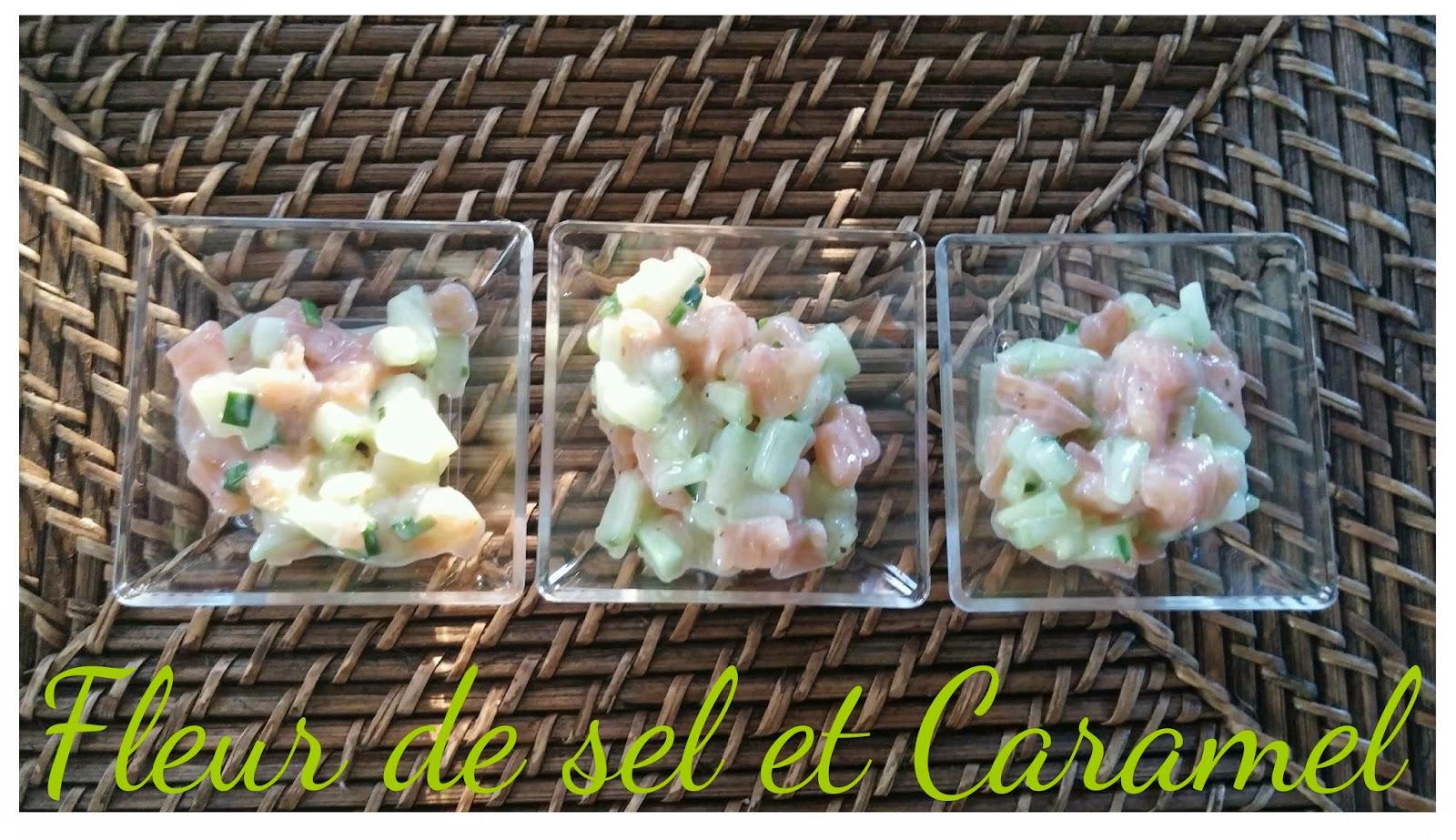 Verrines de saumon fumé et concombre