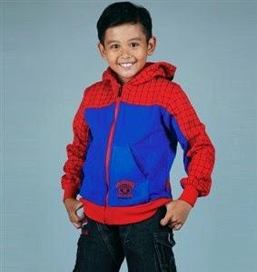 jaket anak spiderman