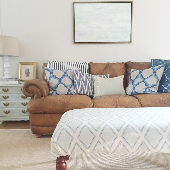 Living Room Change Up | Styling My Leather Sofa | JULIA RYAN