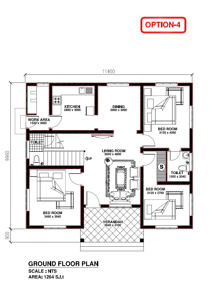 Kerala building construction for Kerala 3d home floor plans