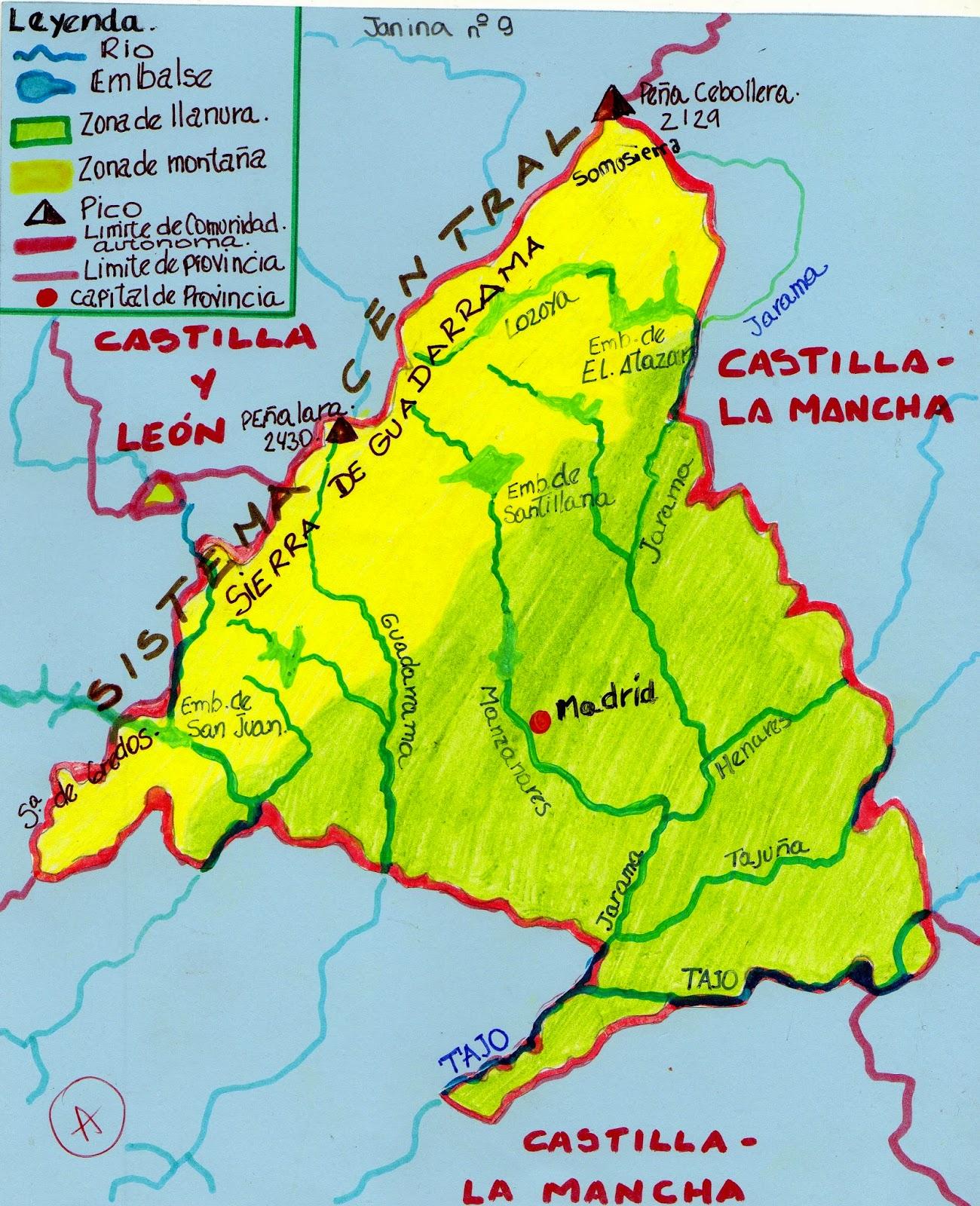 Investiga Medio en 3 Mapa de la Comunidad de Madrid hecho por