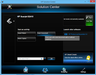 Pengoperasian Scanner Tipe HP Scanjet G2410