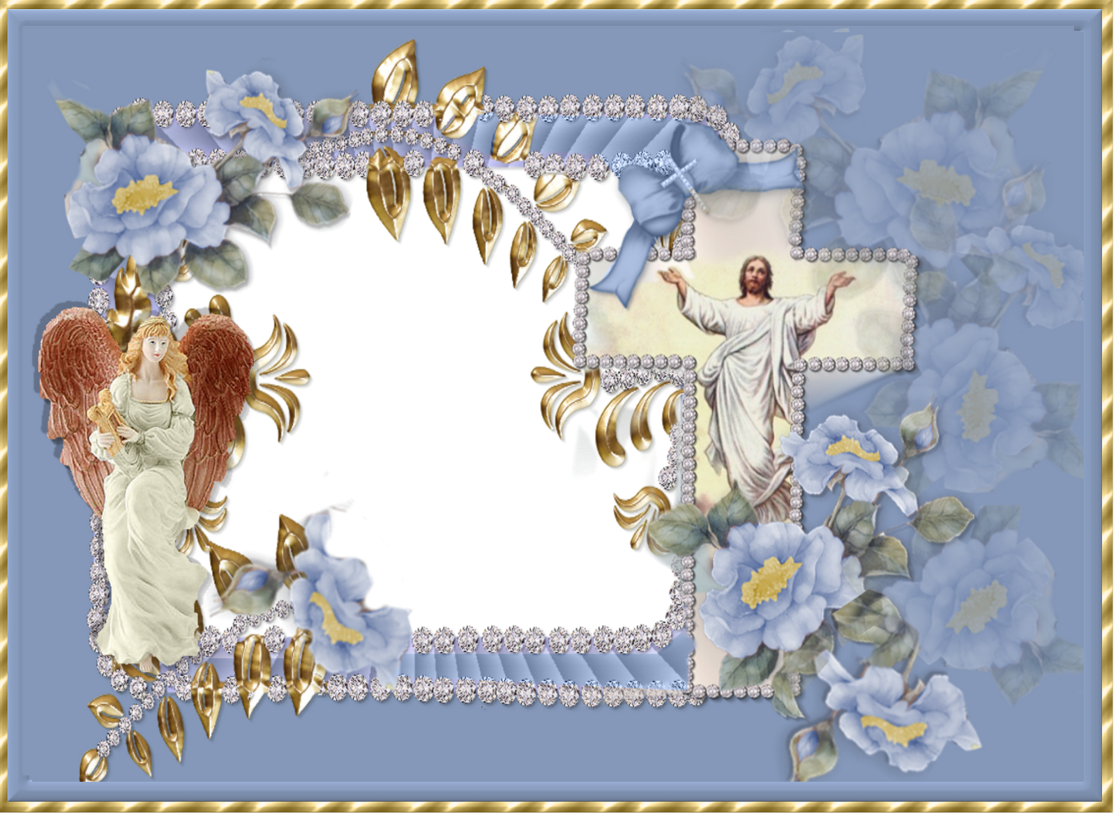 Creative elegance designs 2 religious frames for easter