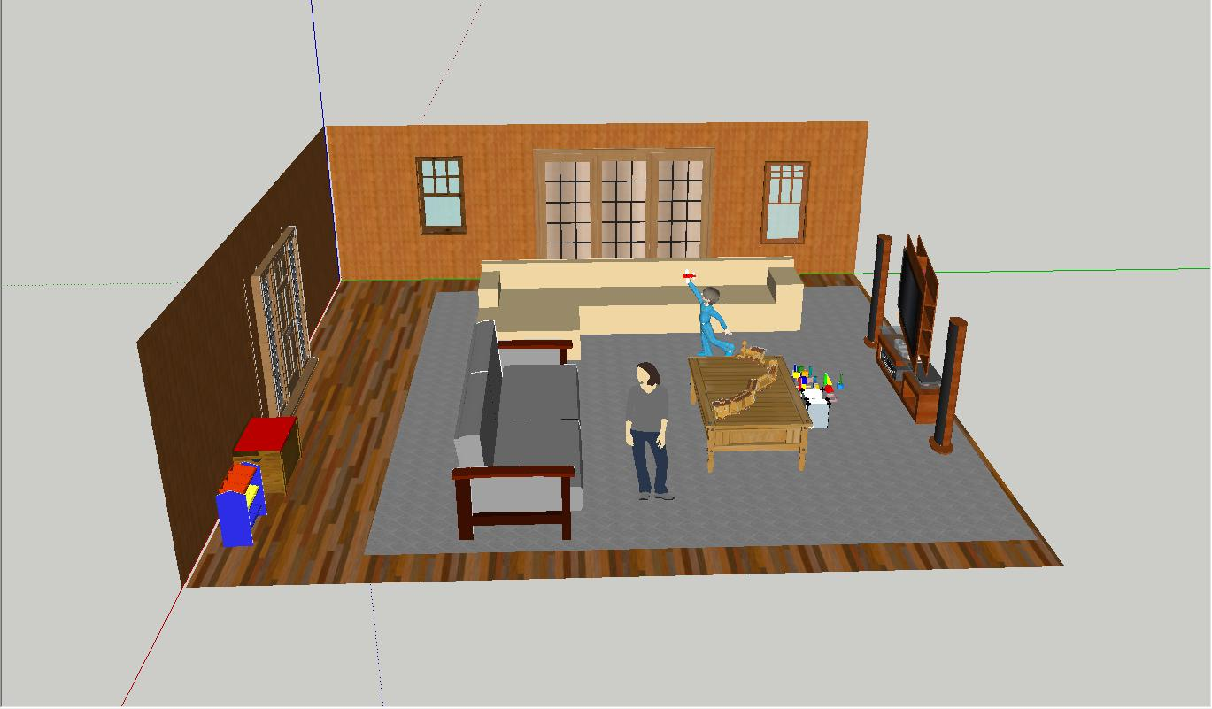 Project 21: Google Sketchup Living Room